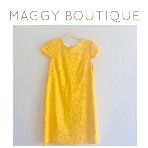 Maggy Boutique Geometric Lace Shift Dress